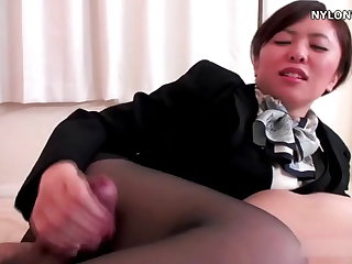 nylon stockings related pantyhose footjob