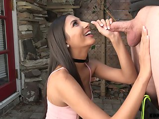 Captivating busty stepsis Gianna Dior gives a difficulty ebst ever POV blowjob with the addition of titjob