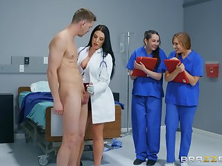 sexy doctor Angela White teaches her students enveloping hard sex