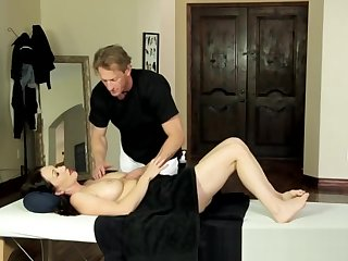 MILF gets seduced with the addition of groped during massage