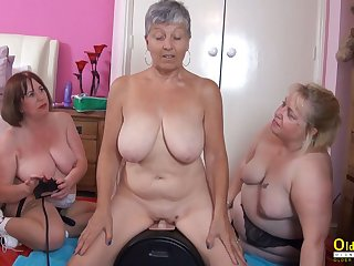 OldNannY Two British Matures added to Intercourse Machine