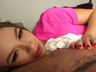 Comely Step Daughter Sneaks in and Seduces with Creampie- Naomi Swann