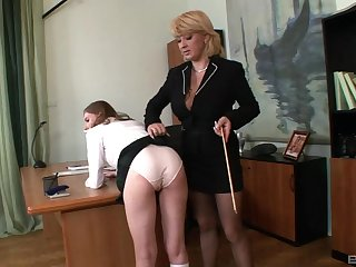 Laconic tits secretary Lucy Bell gets undressed and spanked